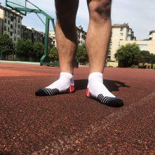 Yellow cotton men's low cut athletic sport socks -2