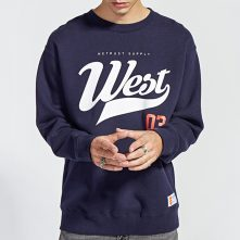 Blue basic cotton long sleeve shirt for young guys-1