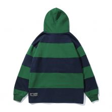 Causal striped grean-blue color hoodies for young boys-1