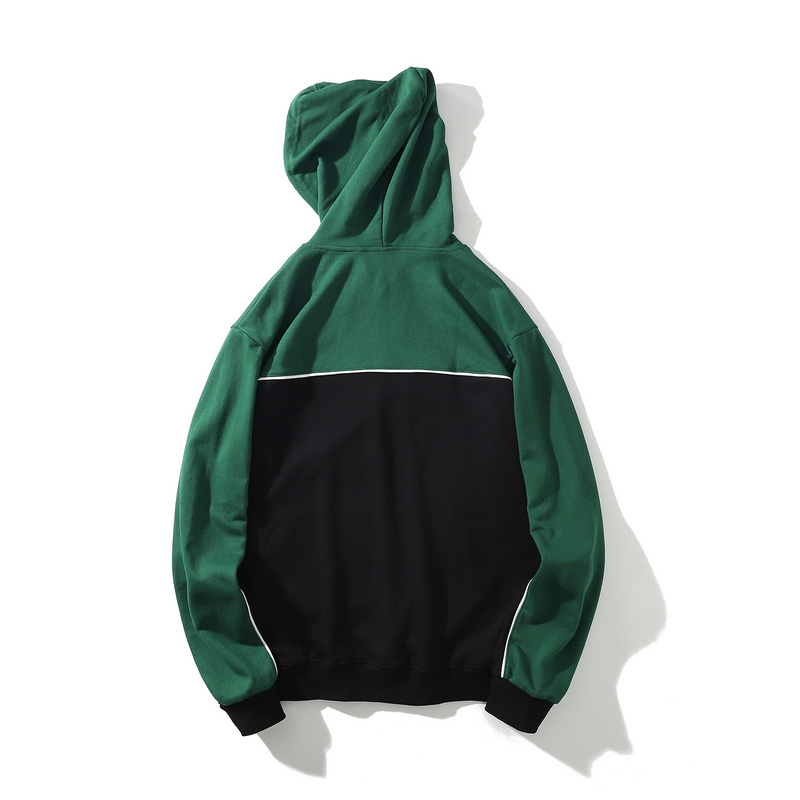 Green-black embroidery premium cotton hoody for young guys.-1