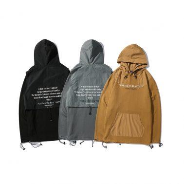 Men's lightweight earthy tones windbreaker jacket style hoodies-1