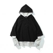 Men's Long Sleeve simple logo Classic gray hoodies-1