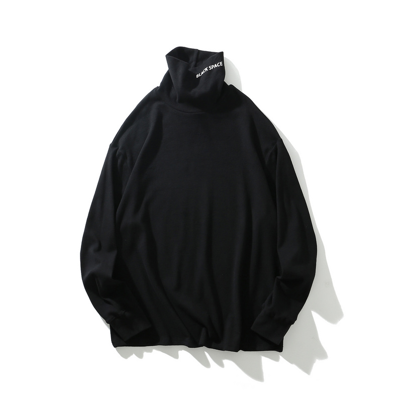 men casual pullover turtleneck long sleeve hoodies-1