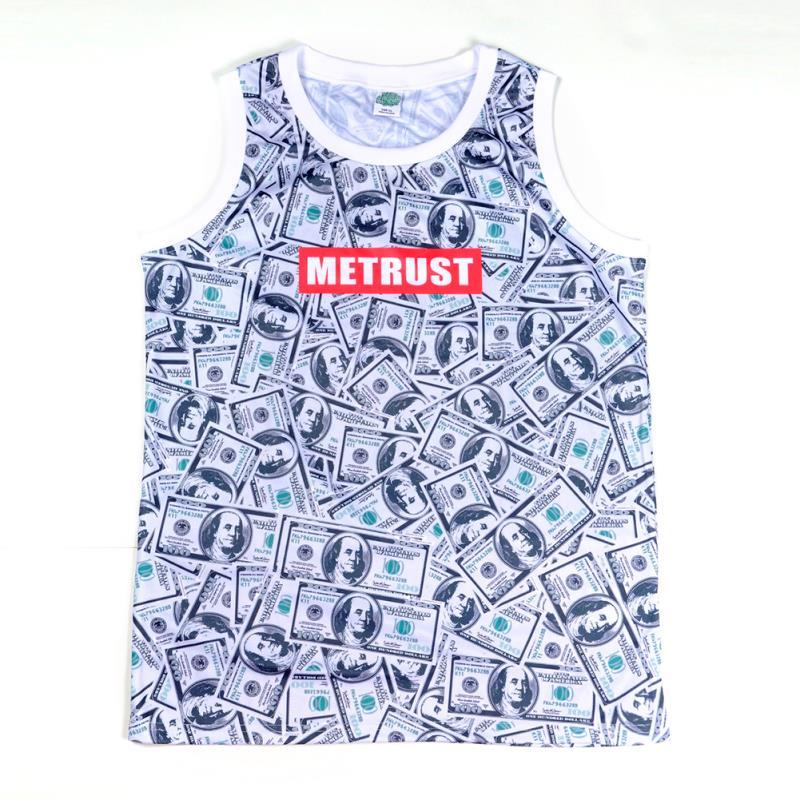 Men's money printed metrust brand tank top-1