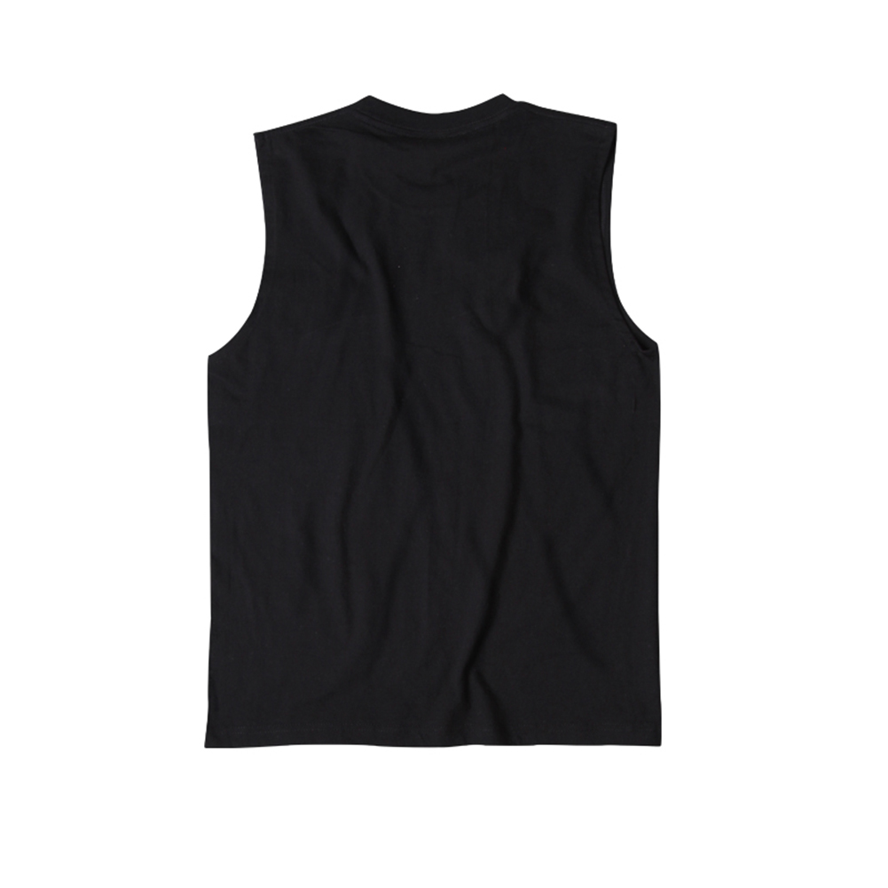 black printed graphic hip hop tank top for men-1