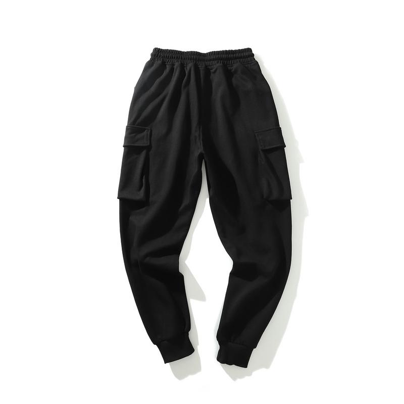 Men's fashionable sweatpants elastic waist with big pockets-1