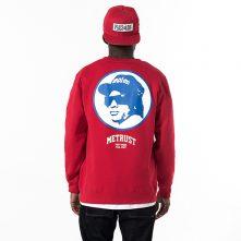 """Red """"METRUST"""" pullover cotton sweatshirt for men-1"""