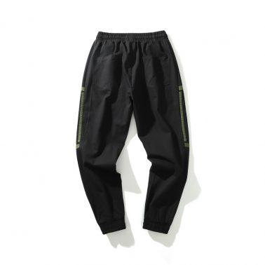 men's casual loose overalls pants green-1