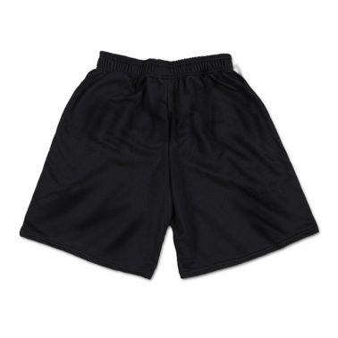 Black and white cotton men's athletic shorts with pockets-2