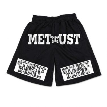 Black printed pattern athletic waist sweat men's shorts-2