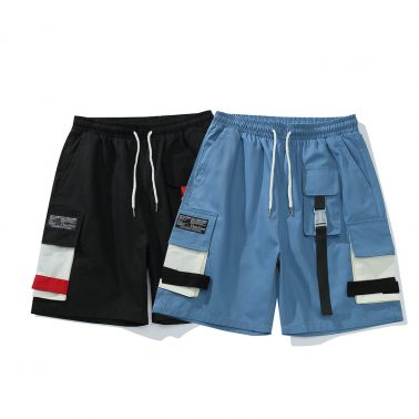 Men's casual elastic waist relaxed fit outdoor cargo shorts-2
