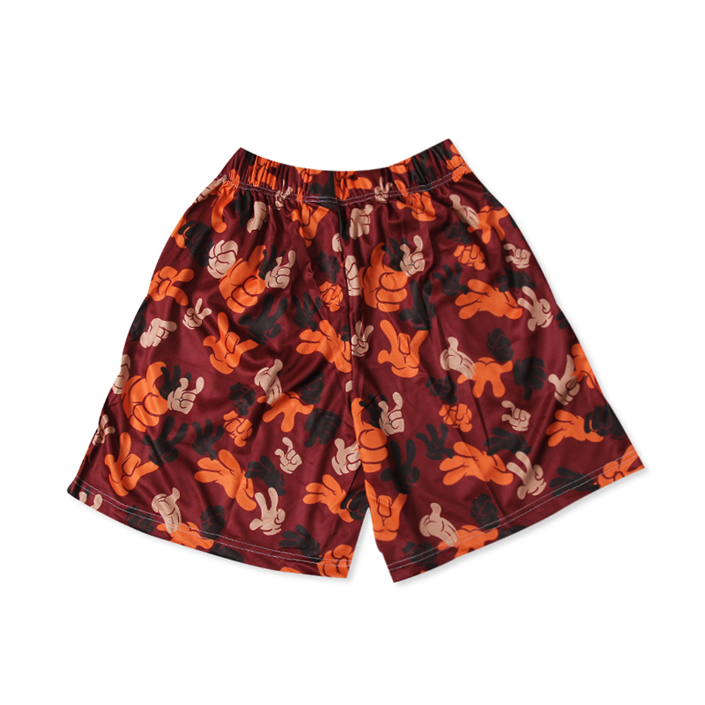 "Original ""I DON'T GIVE SHIT"" Men's colorful Printed Elastic Waist Shorts-2"