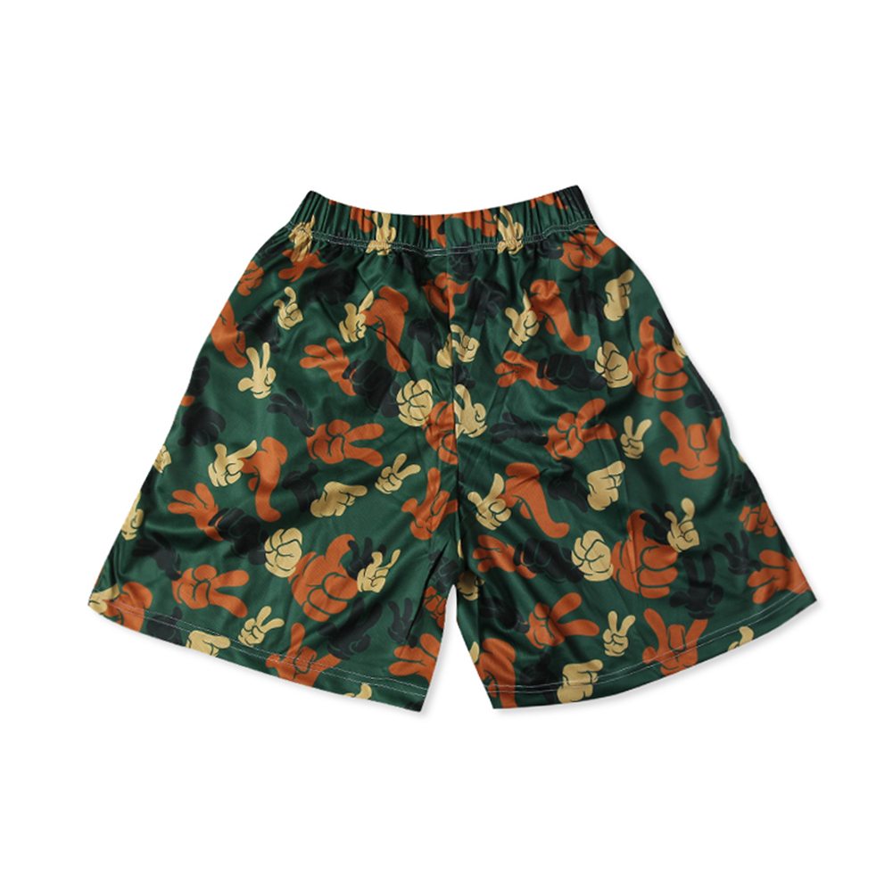 Original Men's screen printed graphics elastic waist shorts with pockets-2