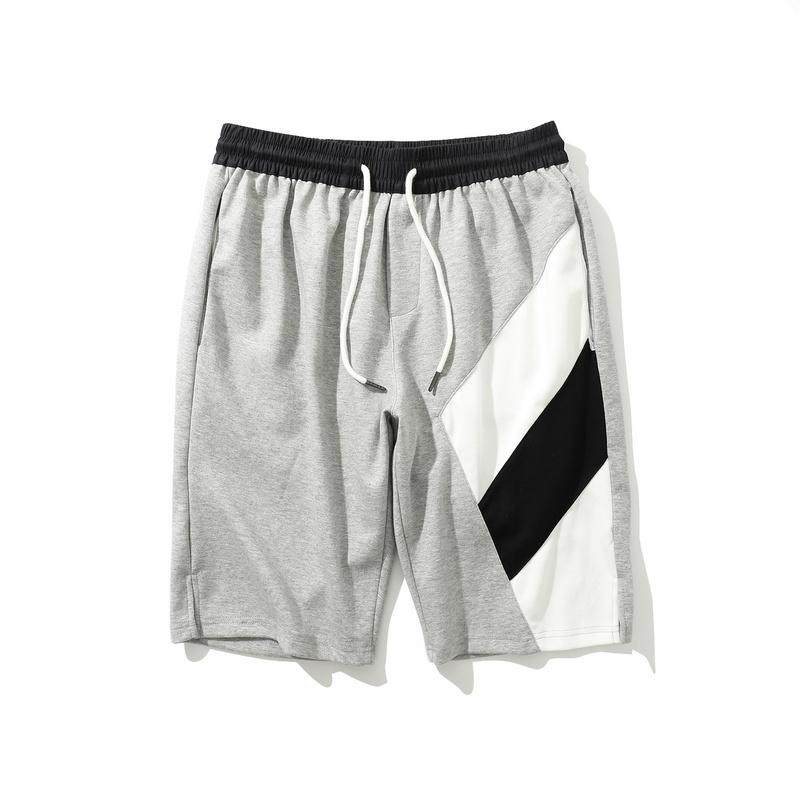 gray men's running athletic training cotton shorts-2