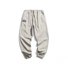 Men's joggers casual cotton drawstring tapered sweatpants-1