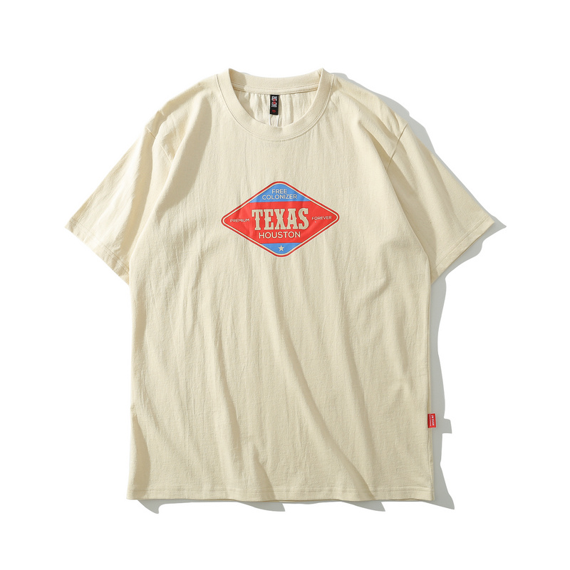 Print loose Texas graphic short sleeve t shirt for men-1