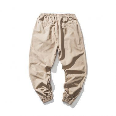 Quick dry breathable elastic waist casual pants in summer-1