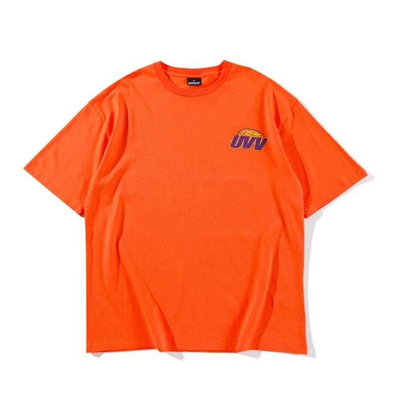 Summer's short sleeve letter print graphic t shirt.-1