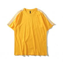 classic men's yellow short-sleeve crewneck workout t shirt-1