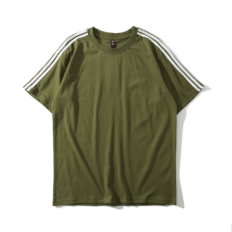 Aung Crown customized simple silk print letter t shirt for men-1
