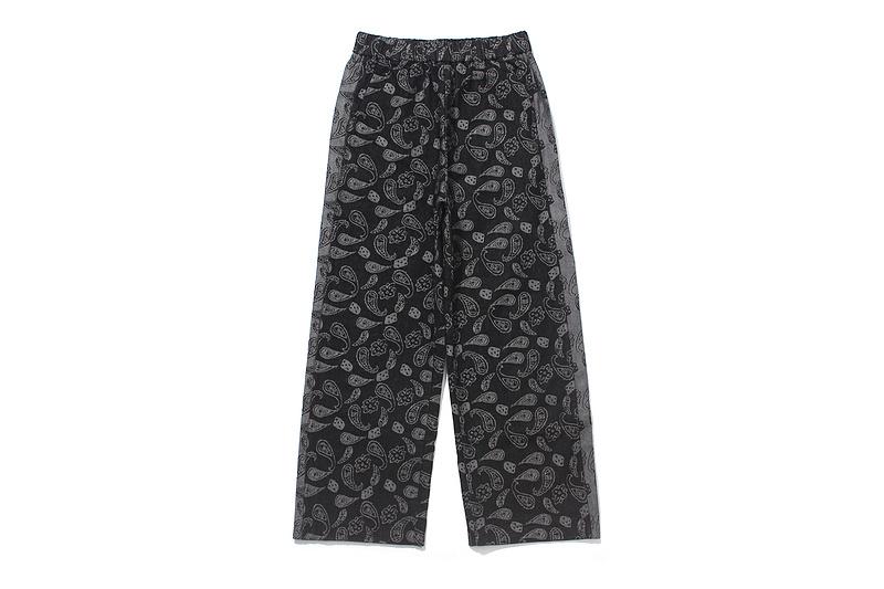 men's elastic wide leg vintage paisley pattern prints pants -1