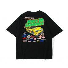 men's street pattern novelty loose t-shirt short sleeve summer-2