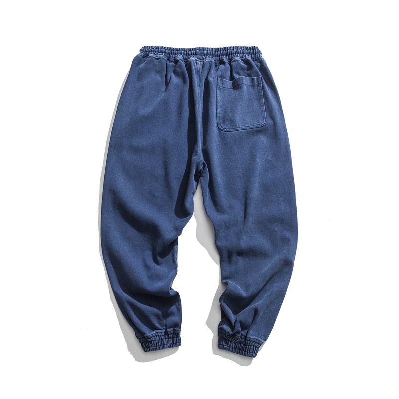 solid loose hip hop men's pants in fall and winter-1