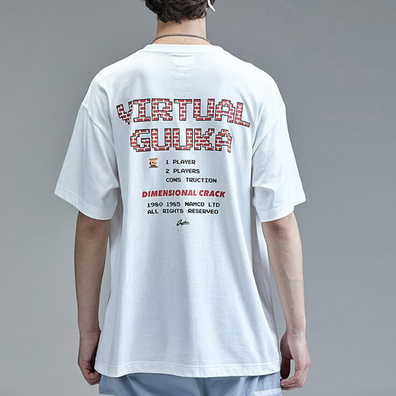 Simple men's graphic print hip hop t shirt