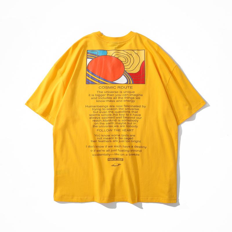Classic crewneck casual loose print men's t shirt-1
