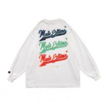 Reflective laser graphics street style long sleeves sweatshirt -2