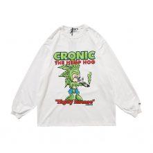 funny fashion oversized silk printing graphic long sleeve shirt-2