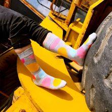women's colorful funky pattern crew socks-2