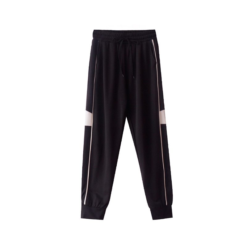 women's drawstring lightweight elastic waist sport pants-2