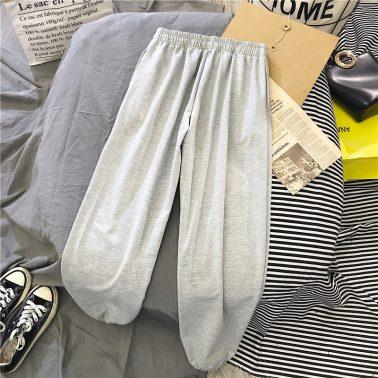 women's simple rainbow print loose casual pants-2